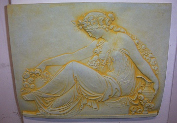 Grecian Lady Plaque