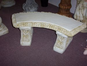Curved Rose Bench Seat